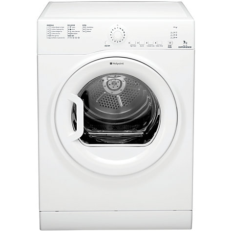 Buy Hotpoint Experience TVEL75C6P Vented Tumble Dryer, 7kg Load, C Energy Rating, White Online at johnlewis.com