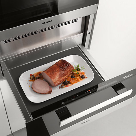 Buy Miele ESW6229 PureLine Built-In Sous Chef Warming Drawer, Clean Steel Online at johnlewis.com