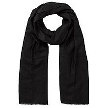 Buy Allegra London Plain Cashmere Scarf, Black Online at johnlewis.com