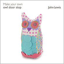 Buy John Lewis Make Your Own Owl Door Stop Kit Online at johnlewis.com
