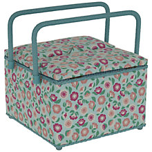 Buy John Lewis Pastel Floral Twin Lid Sewing Basket Online at johnlewis.com
