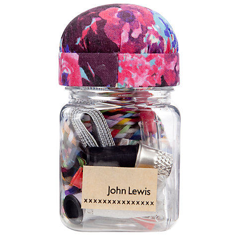 Buy John Lewis Festive Floral Sewing Jar Online at johnlewis.com