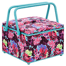 Buy John Lewis Festive Floral Twin Lid Sewing Basket Online at johnlewis.com