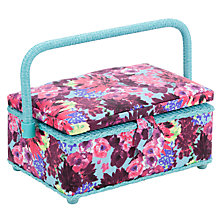 Buy John Lewis Festive Floral Sewing Basket, Multi Online at johnlewis.com