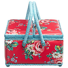 Buy Cath Kidston Kentish Rose Twin Lidded Sewing Basket, Red Online at johnlewis.com