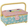 John Lewis Sausage Dog Small Rectangular Sewing Basket