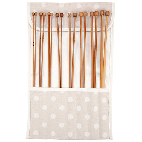 Buy John Lewis Spot Knitting Roll, Neutral Online at johnlewis.com
