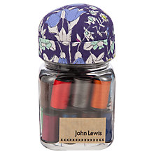 Buy John Lewis Daisychain Print Thread Jar, Multi Online at johnlewis.com
