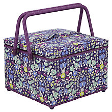 Buy John Lewis Daisychain Print Twin Lid Basket, Multi Online at johnlewis.com