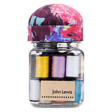 Buy John Lewis Festive Floral Thread Jar Online at johnlewis.com
