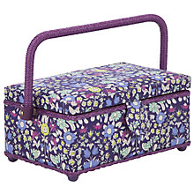 Buy John Lewis Daisychain Print Sewing Basket, Multi Online at johnlewis.com