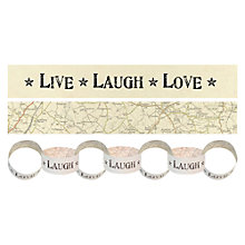 Buy East of India Live Laugh Love Paper Chain, 3m Online at johnlewis.com