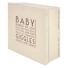 Buy East of India Baby Box Online at johnlewis.com