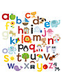 Happy Spaces Alphabet from A to Z Canvas Print