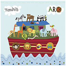 Buy Happy Spaces Noah's Ark Canvas Print Online at johnlewis.com