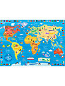 Happy Spaces My First Map of the World Canvas Print