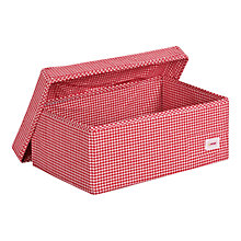 Buy Minene Large Checked Fabric Storage Box, Red Online at johnlewis.com