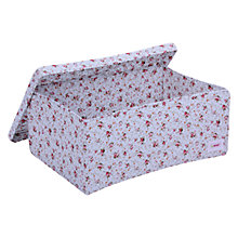 Buy Minene Large Floral Storage Box, Blue Online at johnlewis.com
