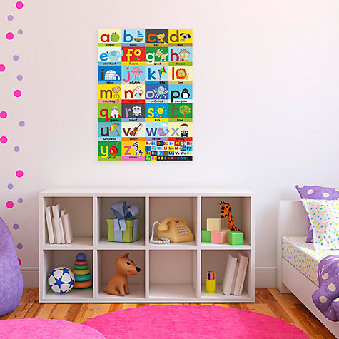 Buy Happy Spaces Alphabet Canvas Print Online at johnlewis.com