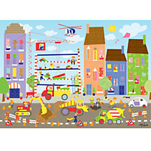 Buy Happy Spaces Busy Building Site Canvas Print Online at johnlewis.com