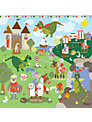Happy Spaces Knights and Dragons Canvas Print