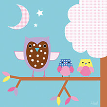 Buy Happy Spaces Night Owls Canvas Print Online at johnlewis.com