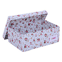 Buy Minene Small Floral Fabric Storage Box, Blue Online at johnlewis.com