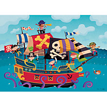 Buy Happy Spaces Pirate Ship Canvas Print Online at johnlewis.com