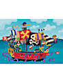 Happy Spaces Pirate Ship Canvas Print