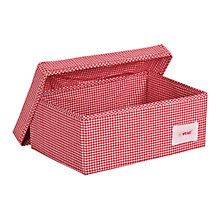 Buy Minene Small Checked Fabric Storage Box, Red Online at johnlewis.com