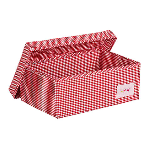 Buy Minene Small Checked Storage Box, Red Online at johnlewis.com