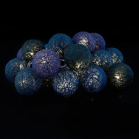 Buy Sirius Bolette Cotton Ball LED Line Lights, x20, Ocean Online at johnlewis.com