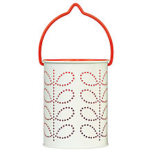 Buy Orla Kiely Tealight Lantern, Red Online at johnlewis.com