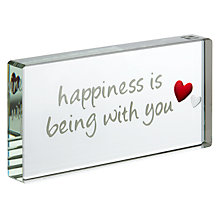Buy Spaceform Happiness Is Being With You Token Online at johnlewis.com