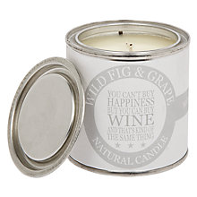 Buy Green & Co. Wild Fig & Grape Paint Pot Scented Candle Online at johnlewis.com