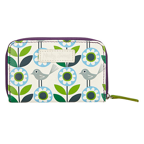 Buy Nicky James Bloom Coin Purse, Green Online at johnlewis.com