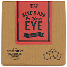 Buy Gentleman's Hardware Coasters, Pack of 4 Online at johnlewis.com