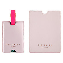 Buy Ted Baker Women's Passport Holder and Luggage Tag Set, Light Rose Online at johnlewis.com