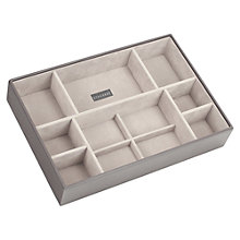 Buy STACKERS by LC Designs Large Deep 11-Section Jewellery Box, Mink Online at johnlewis.com