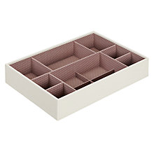 Buy STACKERS by LC Designs Large Deep 11-Section Jewellery Box, Vanilla Online at johnlewis.com