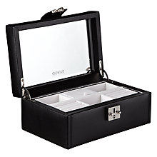 Buy LC Designs Pretty Jewellery Box, Medium, Black Online at johnlewis.com