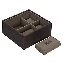 Buy STACKERS by LC Designs Base Accessory Box, Khaki Lining Online at johnlewis.com