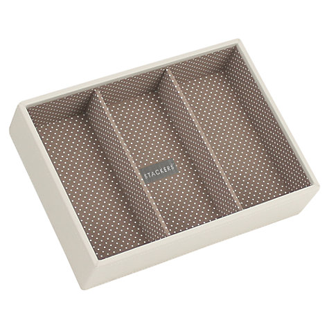 Buy Stackers Jewellery 3-section Tray, Vanilla Online at johnlewis.com