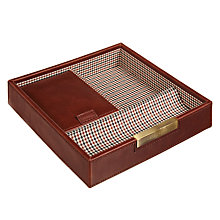 Buy STACKERS by LC Designs Accessory Box Lid, Check Lining Online at johnlewis.com