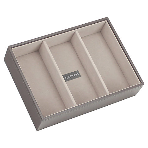 Buy stackers jewellery 3 section tray mink john lewis for Stackers jewelry box canada