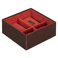 Buy STACKERS by LC Designs Watch Accessory Box, Orange Lining Online at johnlewis.com