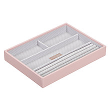 Buy STACKERS by LC Designs Jewellery 4-section Tray, Soft Pink Online at johnlewis.com