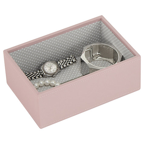 Buy Stackers Mini Jewellery Deep Tray, Soft Pink Online at johnlewis.com