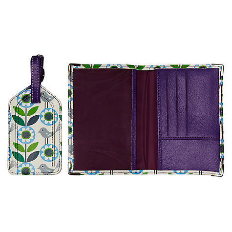 Buy Nicky James Bloom Passport Cover and Luggage Tag, Green Online at johnlewis.com