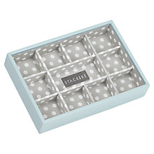 Buy Stackers Mini Jewellery 11-section Tray, Duck Egg Online at johnlewis.com